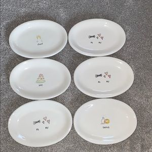 Six Rae Dunn wedding plates new